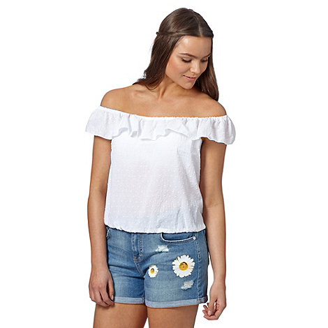 H! by Henry Holland - Designer white ruffle gypsy top
