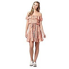 H! by Henry Holland - Designer peach ditsy floral gypsy dress