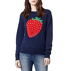 H! by Henry Holland - Designer navy strawberry jumper