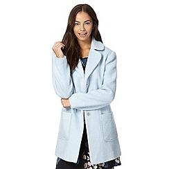 H! by Henry Holland - Designer light blue brushed coat