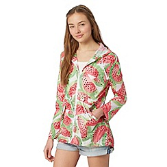 H! by Henry Holland - Designer white watermelon rain mac jacket