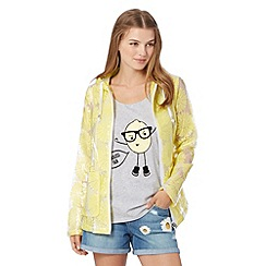 H! by Henry Holland - Designer yellow lace coated rain mac