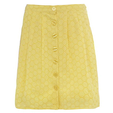 H! by Henry Holland - Yellow fifties button skirt