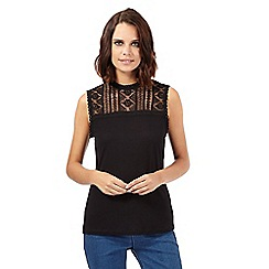 H! by Henry Holland - Black aztec lace top