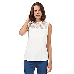 H! by Henry Holland - Ivory aztec lace top