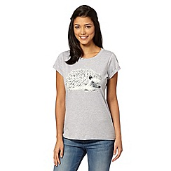 H! by Henry Holland - Designer grey glitter hedgehog t-shirt
