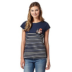 H! by Henry Holland - Designer navy peeping badger print t-shirt