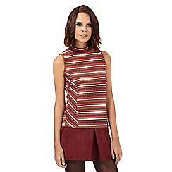 H! by Henry Holland - Orange glitter striped high neck top