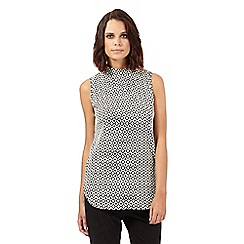 H! by Henry Holland - Black diamond jacquard top