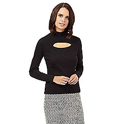 H! by Henry Holland - Black ribbed roll neck top