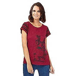 H! by Henry Holland - Dark red badger print t-shirt