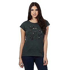 H! by Henry Holland - Dark green animal t-shirt