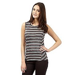 H! by Henry Holland - Silver glitter striped sleeveless top