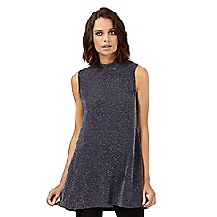 H! by Henry Holland - Grey glitter high neck tunic