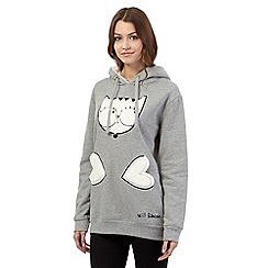 H! by Henry Holland - Grey hooded cat jumper