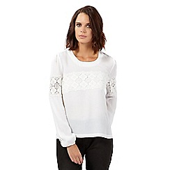 H! by Henry Holland - Cream floral lace top