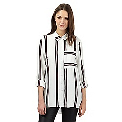 H! by Henry Holland - Ivory striped shirt