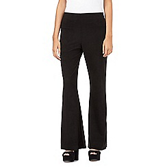 H! by Henry Holland - Black suedette kick flare trousers