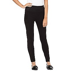 H! by Henry Holland - Black panelled suedette leggings