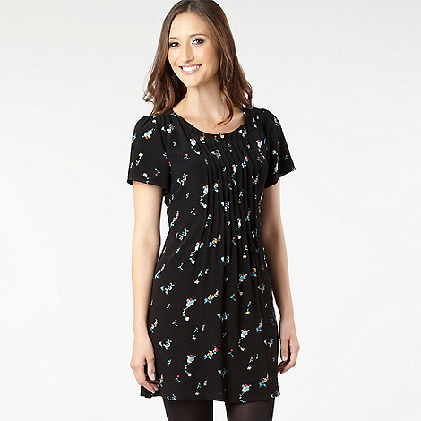 H! by Henry Holland - Black floral print tunic dress