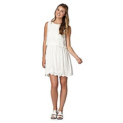 H! by Henry Holland - Designer ivory embroidered double layer dress