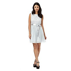 H! by Henry Holland - Pale grey embellished lace dress