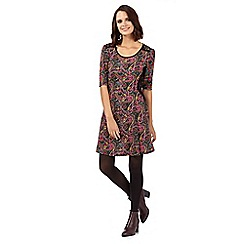 H! by Henry Holland - Pink paisley lace skater dress