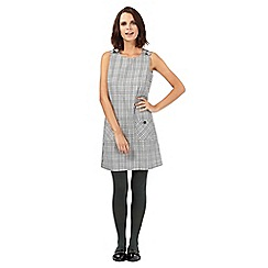 H! by Henry Holland - Black dogtooth pocket dress