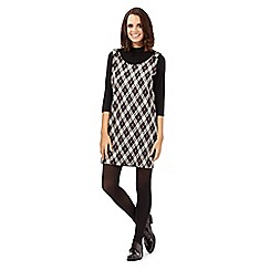 H! by Henry Holland - Natural checked roll neck dress