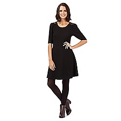 H! by Henry Holland - Black lace textured skater dress