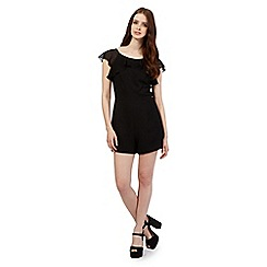 H! by Henry Holland - Black frill playsuit