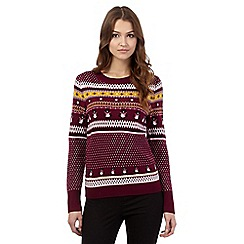 H! by Henry Holland - Purple penguin festive jumper