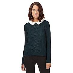 H! by Henry Holland - Dark green knitted collar jumper