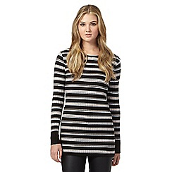 H! by Henry Holland - Black sparkle striped jumper dress