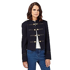 H! by Henry Holland - Navy textured military jacket