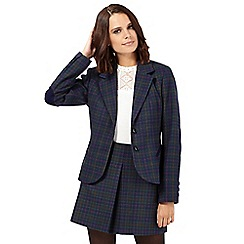 H! by Henry Holland - Navy checked spotted blazer