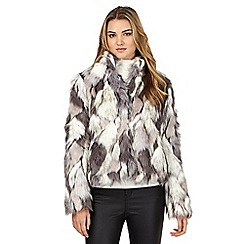 H! by Henry Holland - Multi-coloured faux fur coat