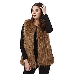 H! by Henry Holland - Brown faux fur gilet