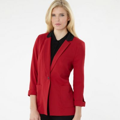 Bright Red Blazer Jacket