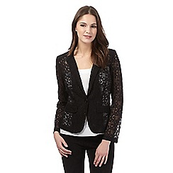 H! by Henry Holland - Black floral lace jacket