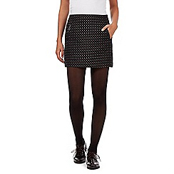 H! by Henry Holland - Black woven diamonds mini skirt