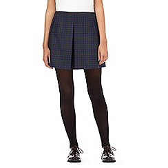 H! by Henry Holland - Navy checked pleated skirt