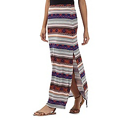 H! by Henry Holland - Designer navy floral aztec maxi skirt