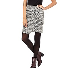 H! by Henry Holland - Black diamond jacquard skirt