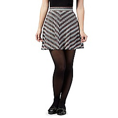 H! by Henry Holland - Silver striped flippy skirt