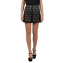 H! by Henry Holland - Black floral lace shorts