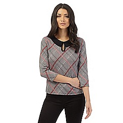 H! by Henry Holland - Brown checked three quarter length top