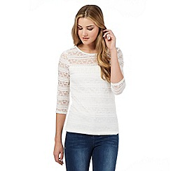 H! by Henry Holland - Ivory lace overlay top