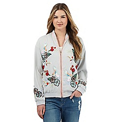 H! by Henry Holland - Multi-coloured bird embellished bomber jacket