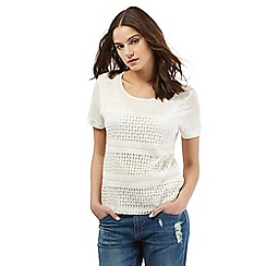 H! by Henry Holland - Ivory crochet lace top